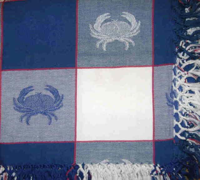 Beautiful Blue Crab Tablecloth