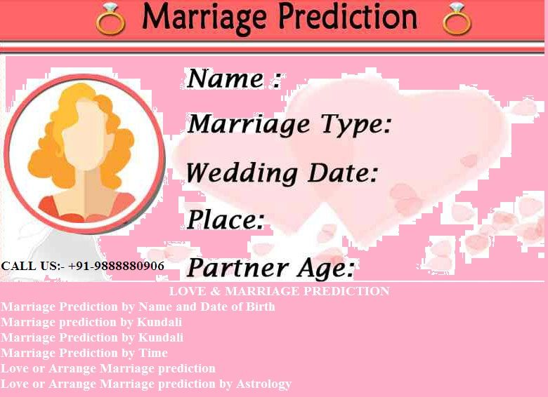 date of birth astrology marriage