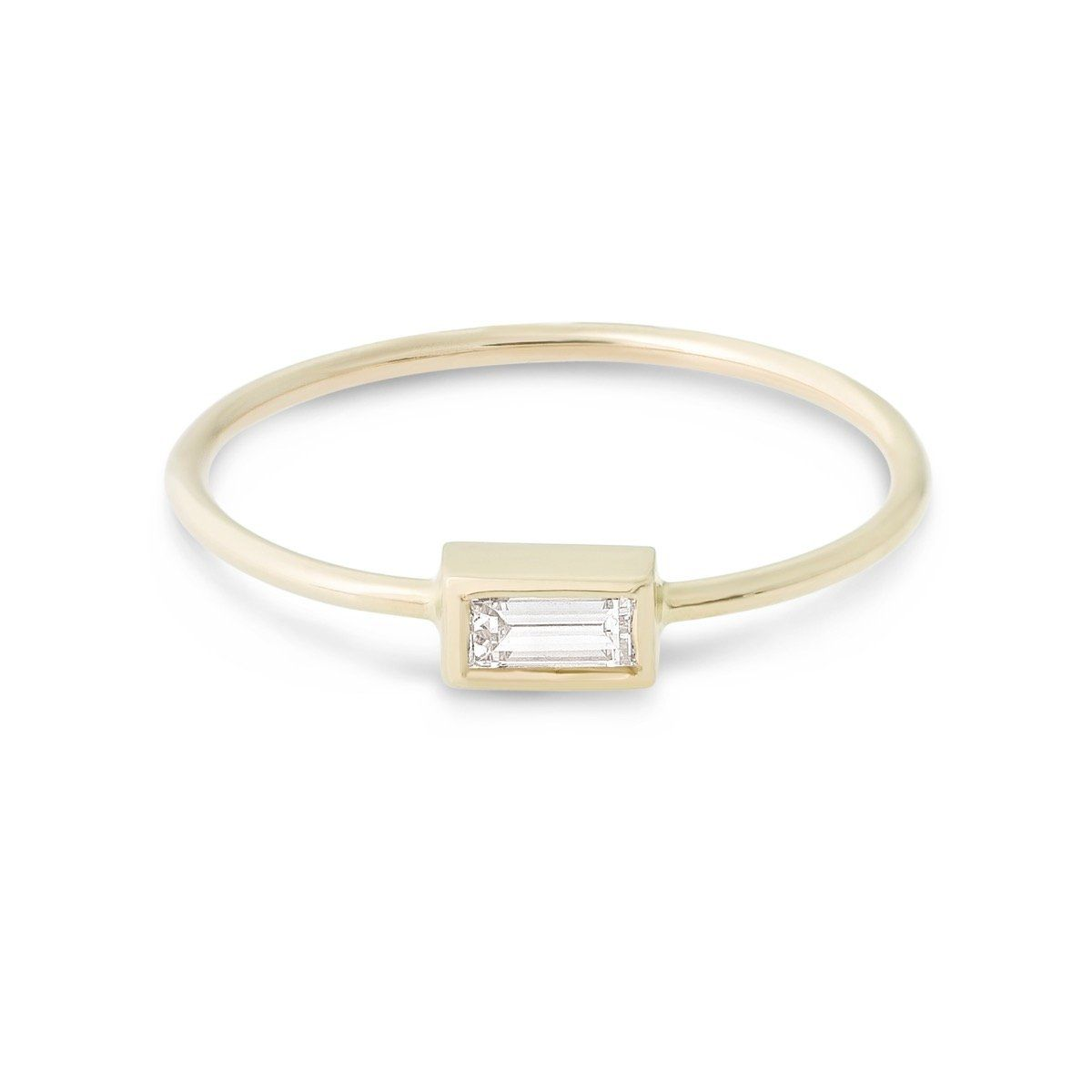 c4924d3f128 Small Baguette Diamond Ring - STONE AND STRAND