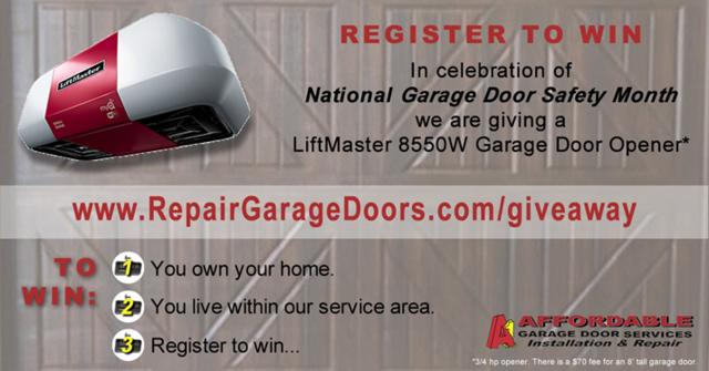 National Garage Door Safety Month Giveaway Giveaway Pinterest
