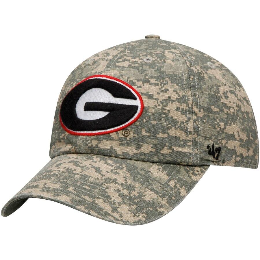 Georgia Bulldogs 47 Oht Military Appreciation Team Color Nilan Clean Up Adjustable Hat Camo Military Appreciation Georgia Bulldogs Hats