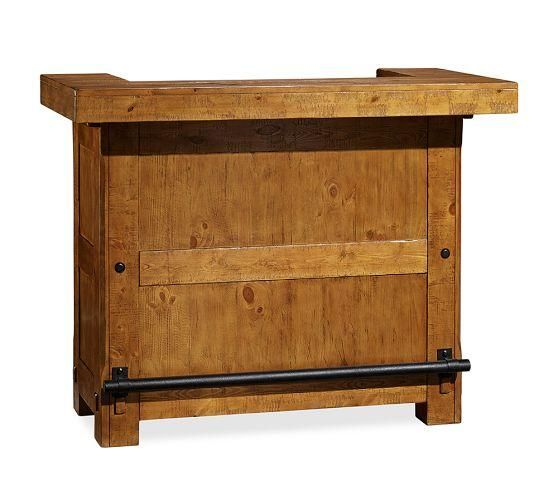 Small Rustic Wood Freestanding Ultimate Bar Home Bar Furniture