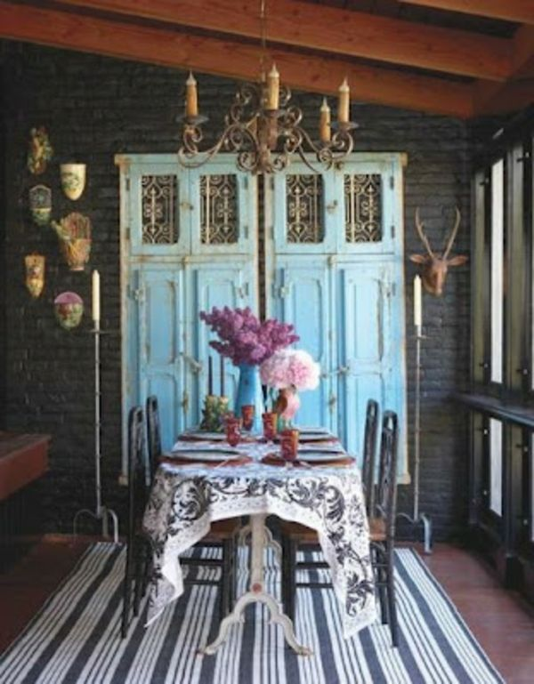 Handgemacht Möbel Und Dekorationen Aus Alten Türen Tisch Stuhl Leuchter