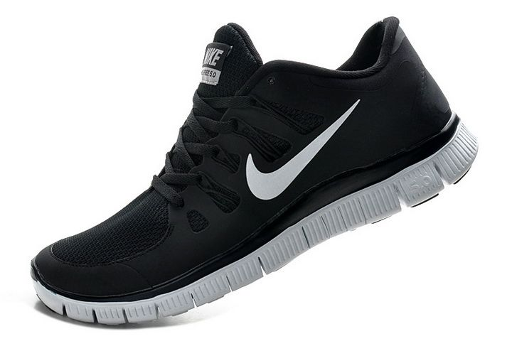 nike free run 5.0 v2 mens black&white oxfords