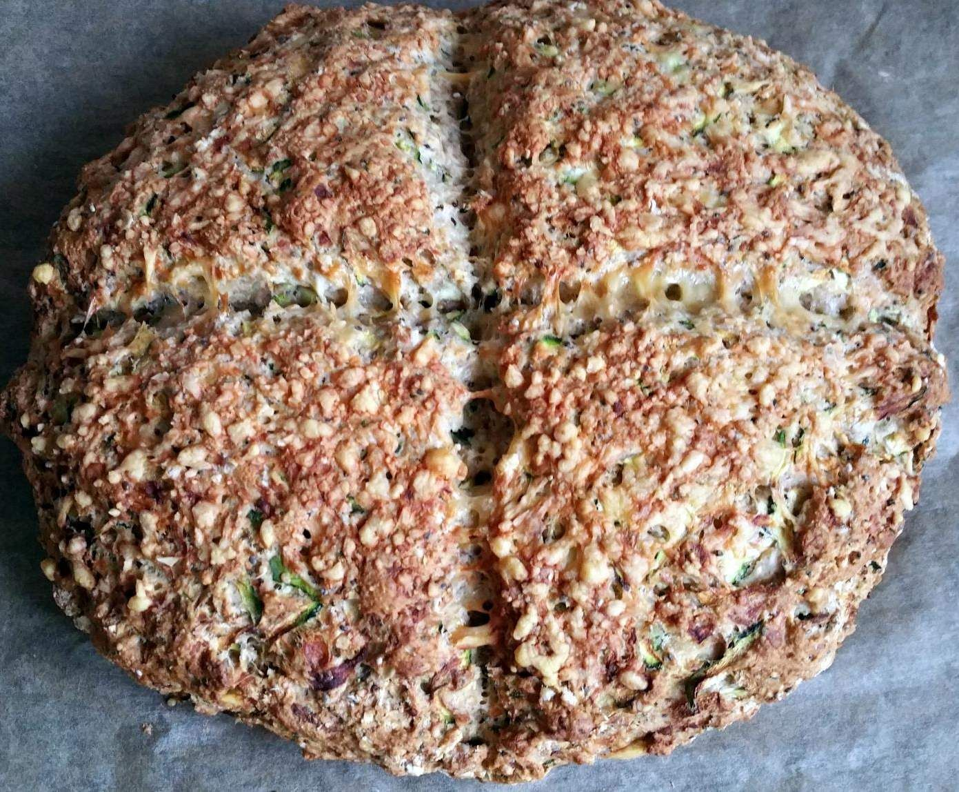 Backen Soda Schnelles Zucchini And Gouda Brot Soda Bread Rezept