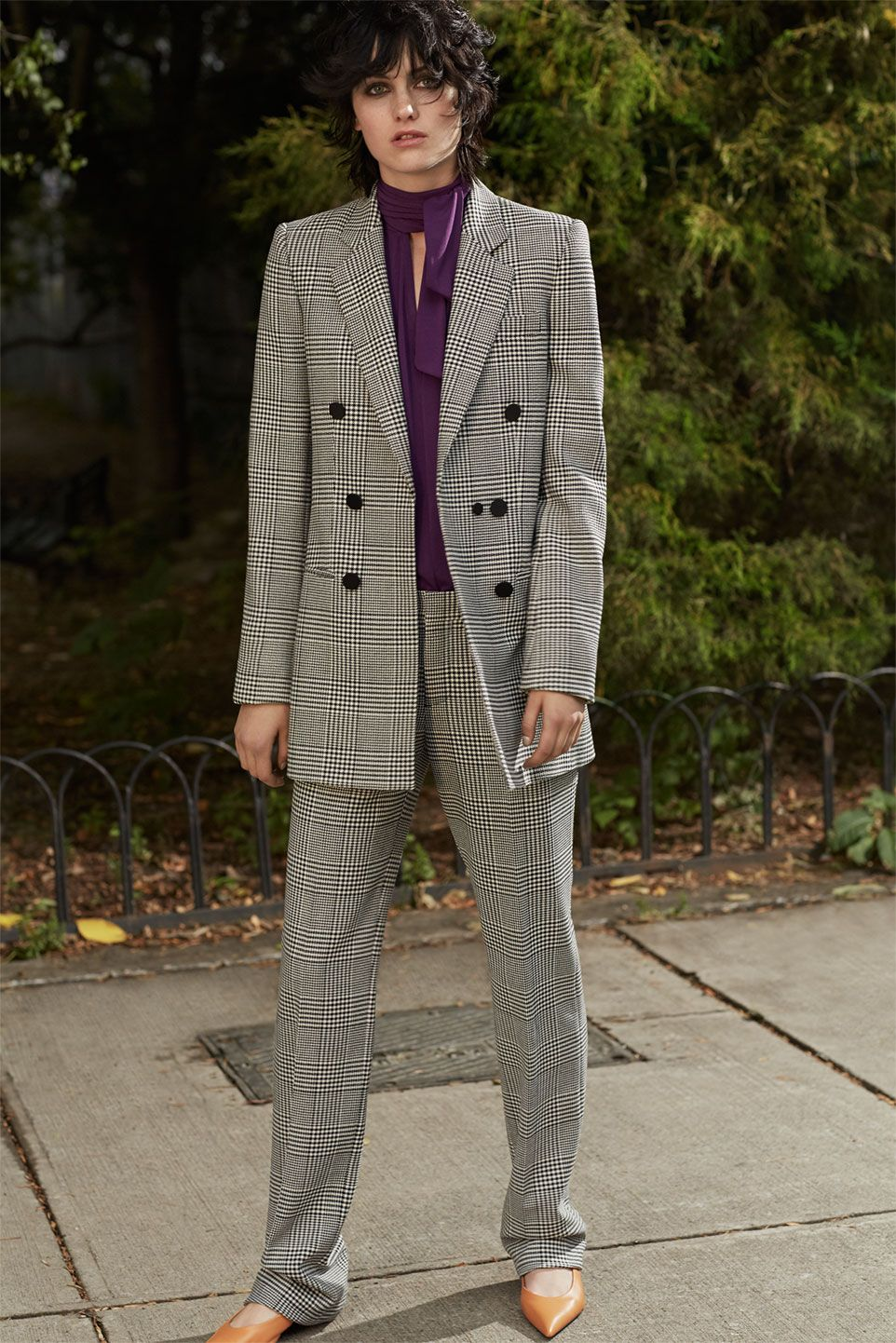 Zara zaraeditorial retro fiction pant suit pinterest
