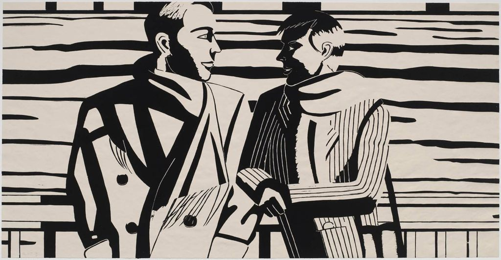 "Alex Katz, ""3 PM."" 1988. Woodcut. Museum of Fine Arts, Boston."