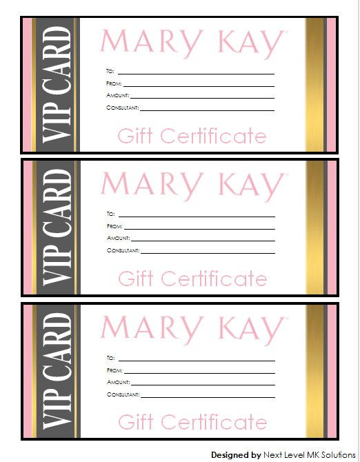 Mary Kay Gift Certificate Download Gold Vip Style Mary Kay Gift Certificates Mary Kay Gift Certificate Template Mary Kay Gifts