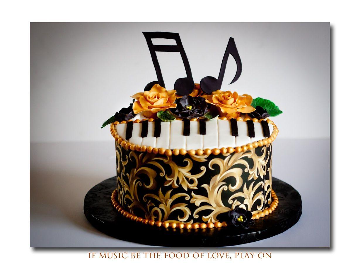 Birthday Cakes Birthday cake for a former music teacher She