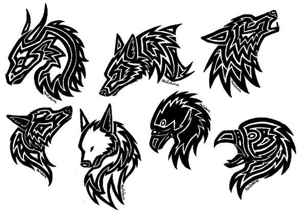 Tattoos Eagle Wolf Dragon By Themetasepia On Deviantart Chinese Zodiac Tattoo Scandinavian Tattoo Zodiac Tattoos