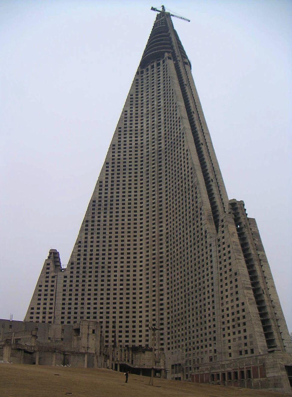 Brutalist Ryugyong Hotel North Korea