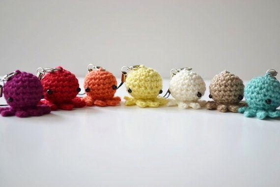 Crochet Octopus Phone Charm!