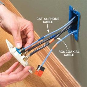 Installing Communication Wiring Installing Cat-5 and coaxial cable ...