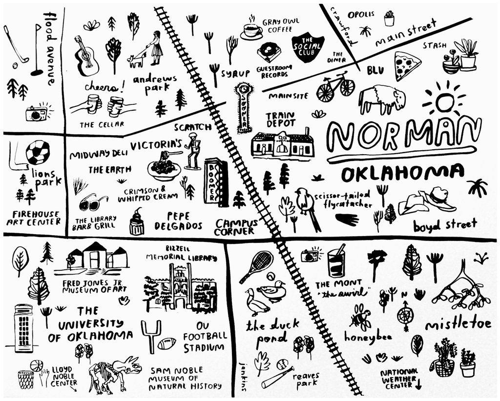 Norman Map Print P9534 Map Print Print Norman