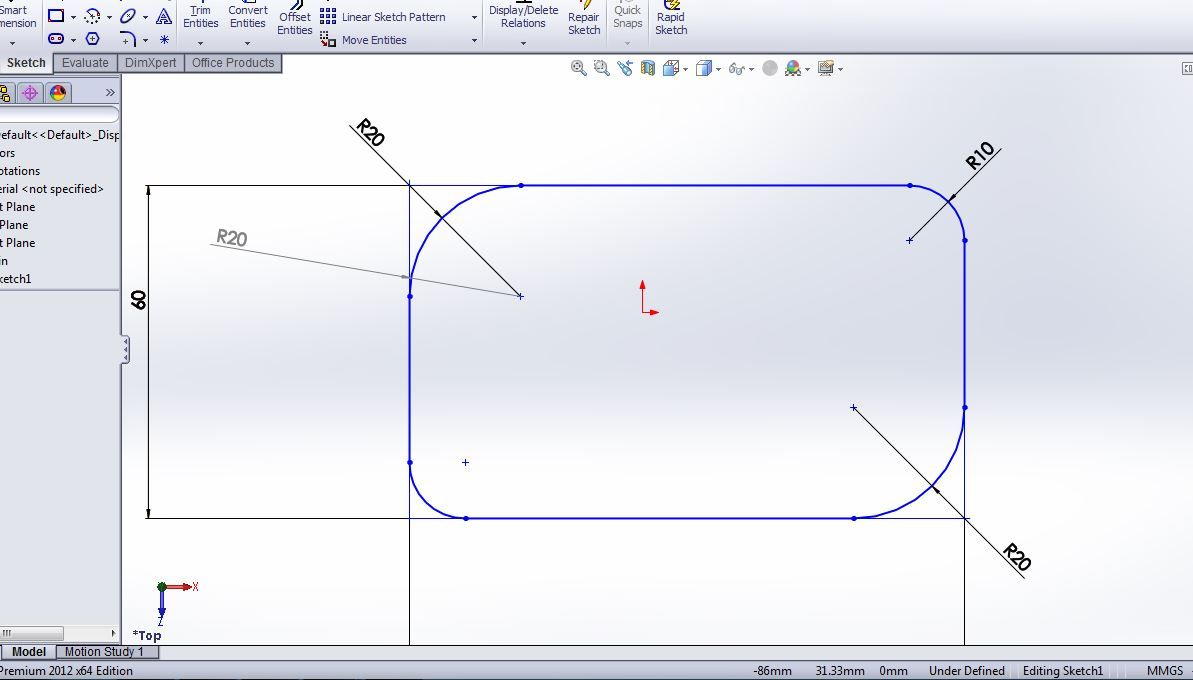 How To Use Solidworks Sketch Fillet Tool Tutorial For Beginners Solidworks Solidworks Tutorial Tutorial