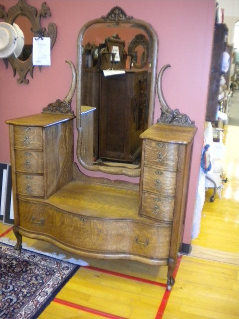 "Bedroom Furniture Evansville In karges quarter sawn oak ""harlow"" dresser made in 1909karges"