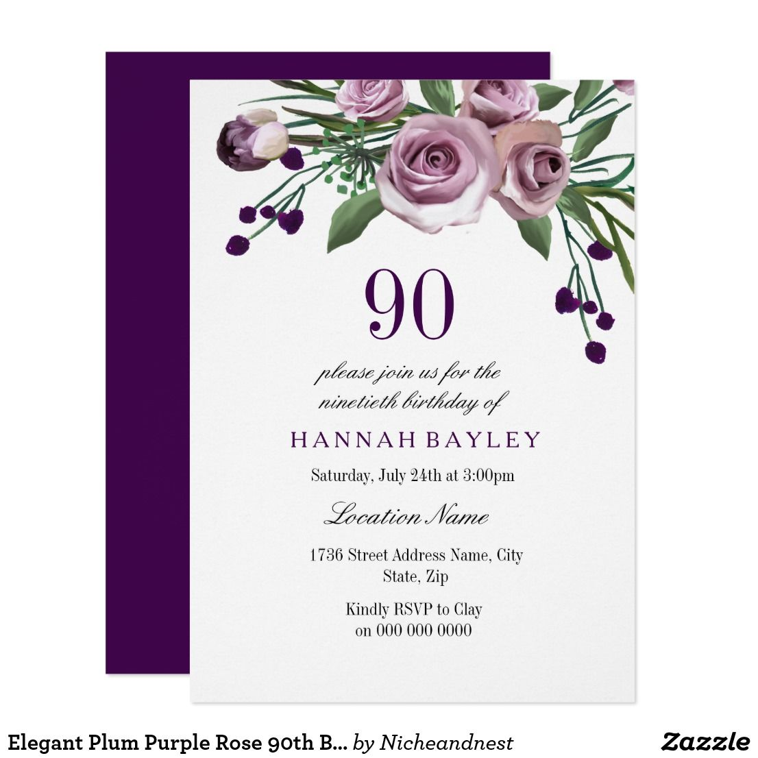 Floral 90th birthday invitation pink watercolor floral 90th birthday floral 90th birthday invitation pink watercolor floral 90th birthday invitation pink watercolor flower for further izmirmasajfo