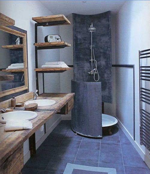 Interessante Design Ideen Für Männer Badezimmer Holz Ausstattung