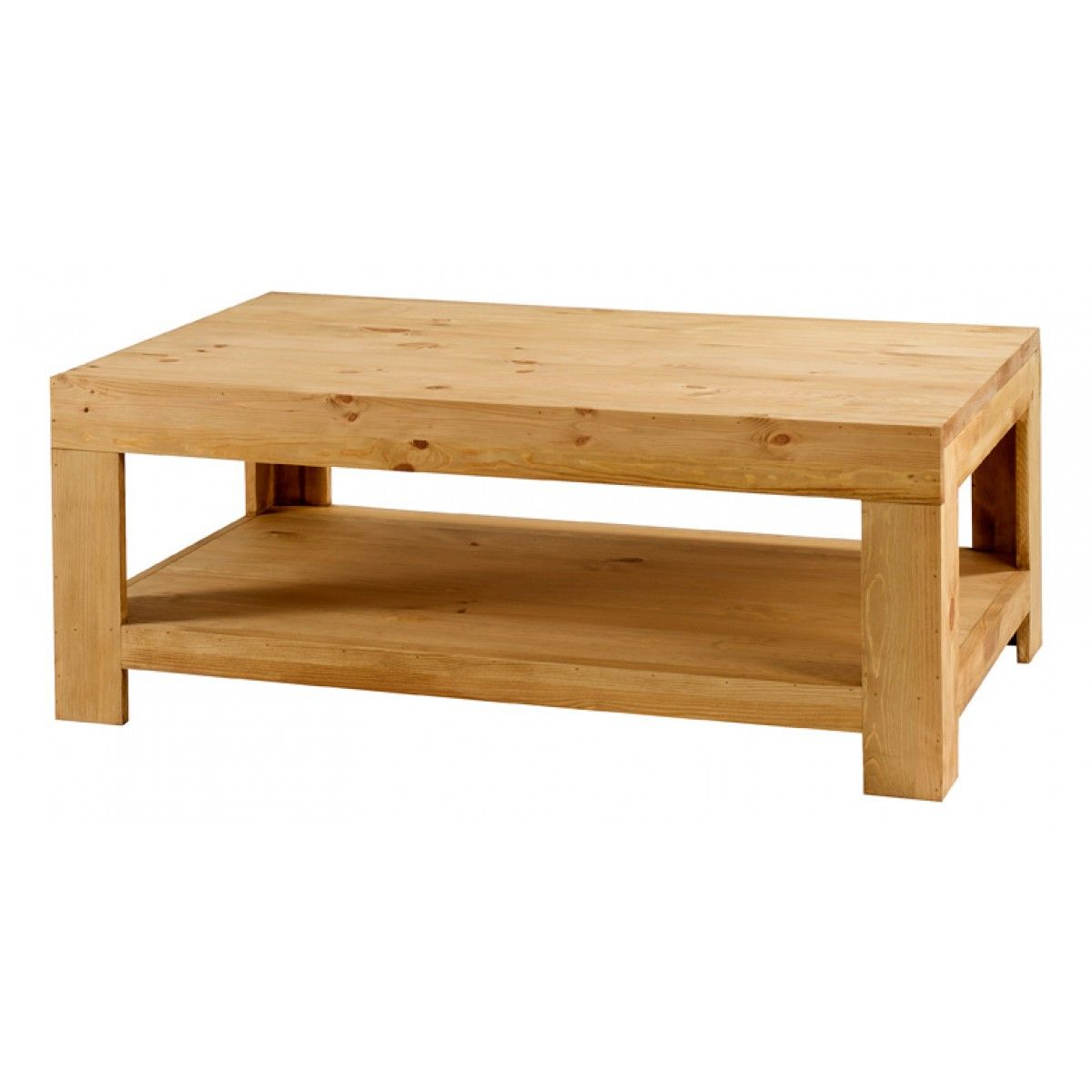 Table basse pin massif 120 cm Colorado
