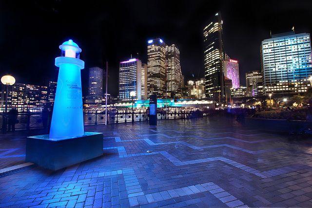 Radioactive Lighthouse Australia Sydney Harbor And Skyline Australia Wallpaper Australia Skyline