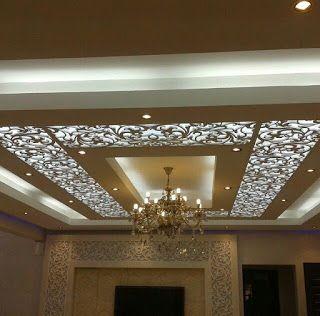 ديكورات جبس بورد مودرن مع ديكورات خشب السي ان سي Ceiling Design Modern Pop Ceiling Design Latest False Ceiling Designs