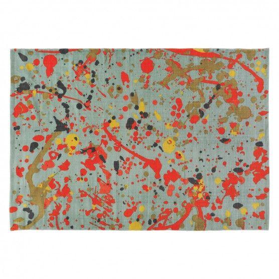 Splatter Medium Multi Coloured Splatter Printed Cotton Rug 140 X 200cm Buy Now At Habitat Uk In 2020 Printed Cotton Rug Painted Rug Cotton Rug