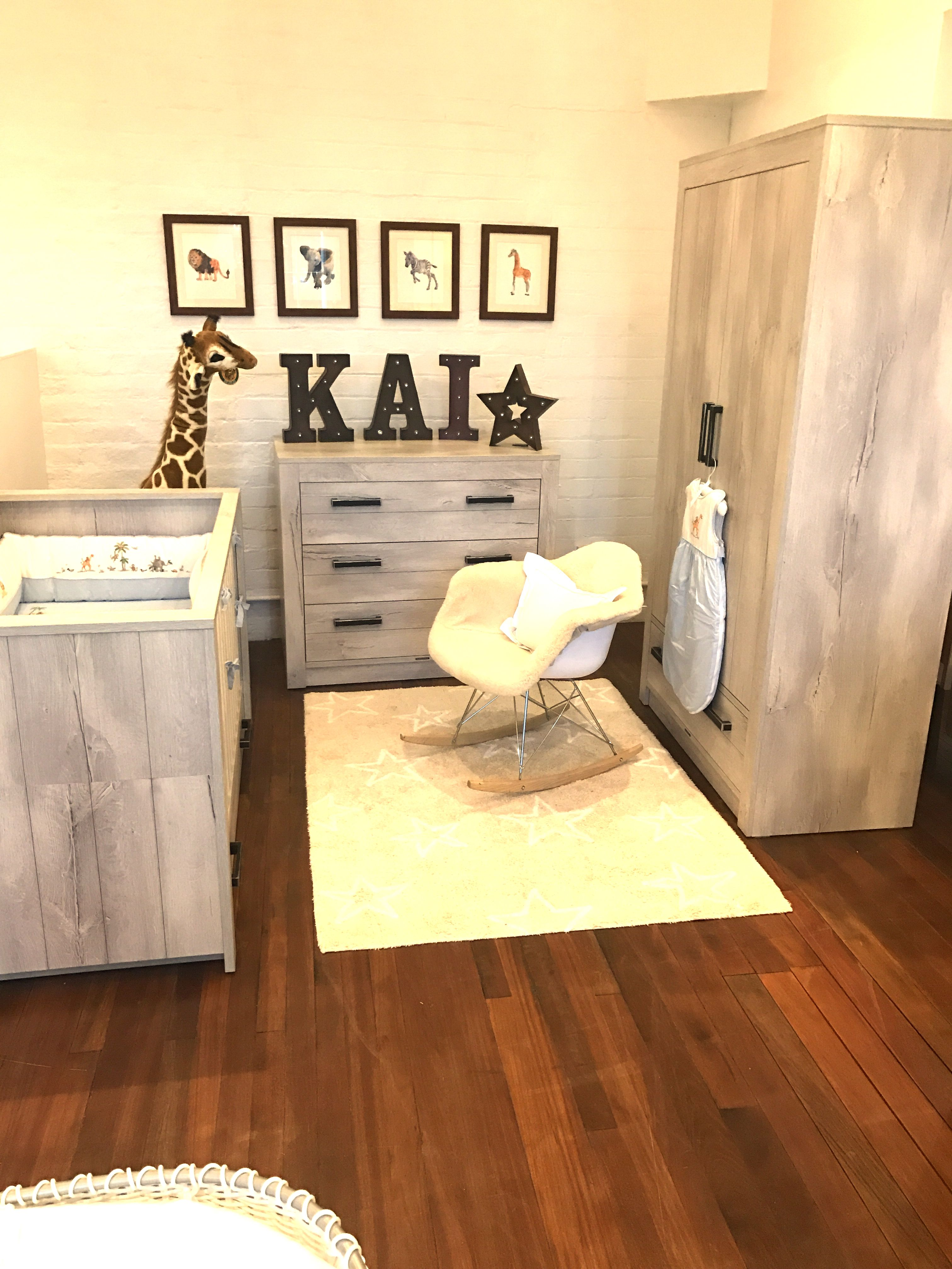 Fjord nursery furniture by Kidsmill with a safari theme on display