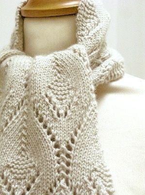 Ivy Leaf Knitting Pattern : Clems Lace Scarf PDF Pattern #knitting #lace Leaf/Ivy/Vine Knit Stitch...