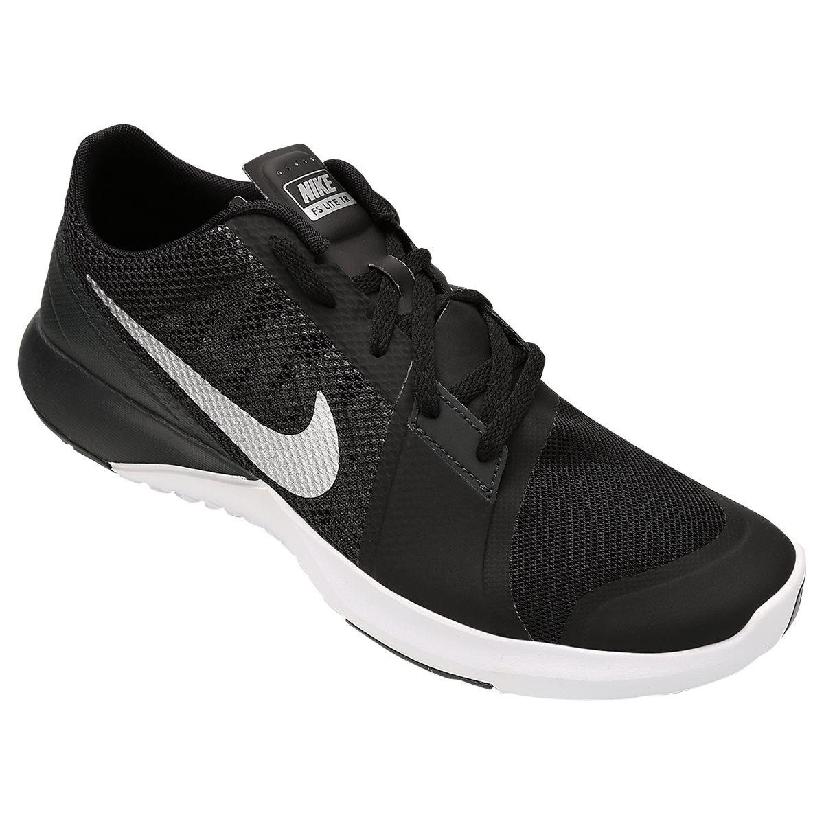 Tênis Nike FS Lite Trainer 3 Preto e Branco  4c14fc98ca9a2