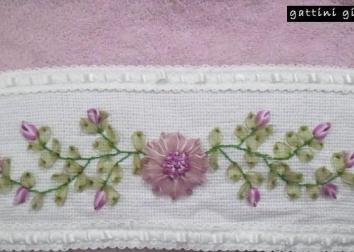 Pin by Atif soofi on ribbon embroidery   Pinterest   Bordado ...