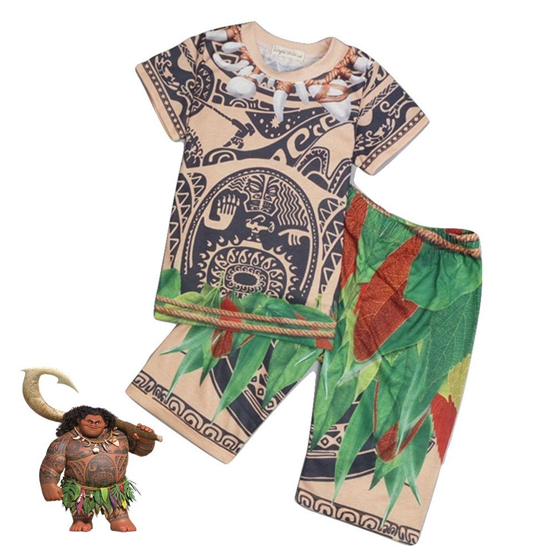 Amazon Com Patterned Maui From Moana Shirt And Pants Costume Set