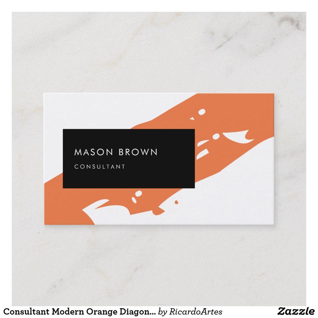 Consultant Modern Orange Diagonale Black Rectangle