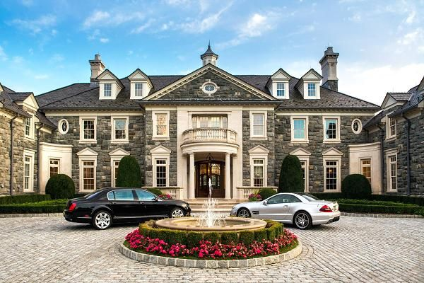 The 56 Million Stone Mansion Alpine New Jersey Luxury Homes Dream Houses Mansions Stone Mansion