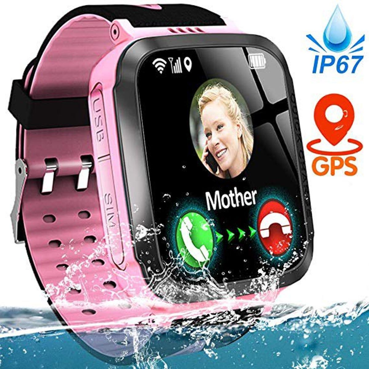 Kids Smart Phone Watch Ip67 Waterproof G Phone Watch For Kids Gps Tracker Watch Smart Kids