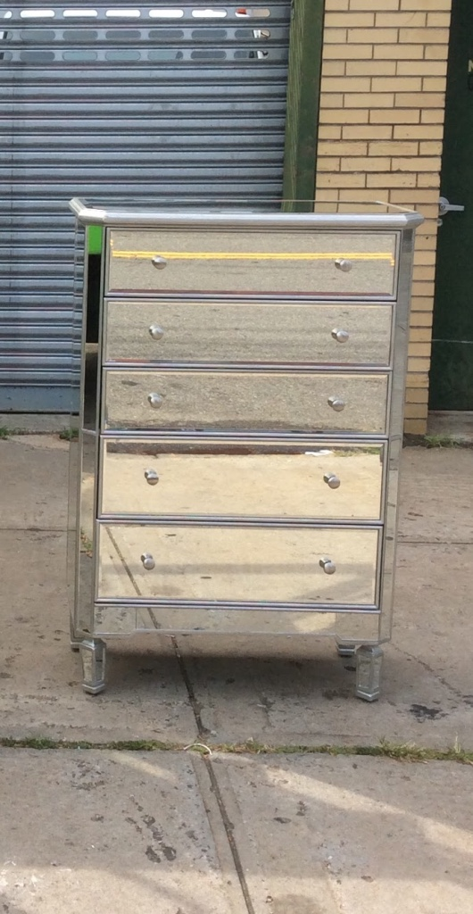 Sold Tall Mirrored Dresser In New York Letgo Dresser With