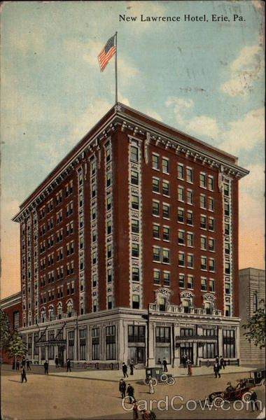 New Lawrence Hotel 1913 Jun 19 Erie Pa Union Cityerie Pennsylvania