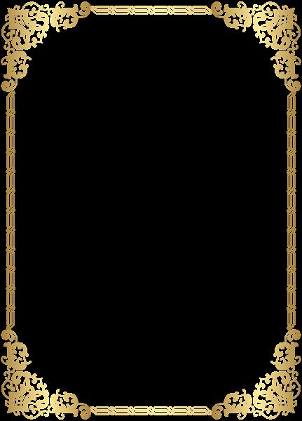 Gold Border Frame Transparent Clip Art Image | aasif | Pinterest ...