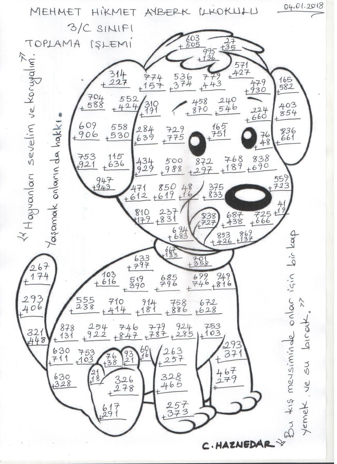 Resimli Boyamali Matematik Toplama Yapma Sayfalari Toplama Ve