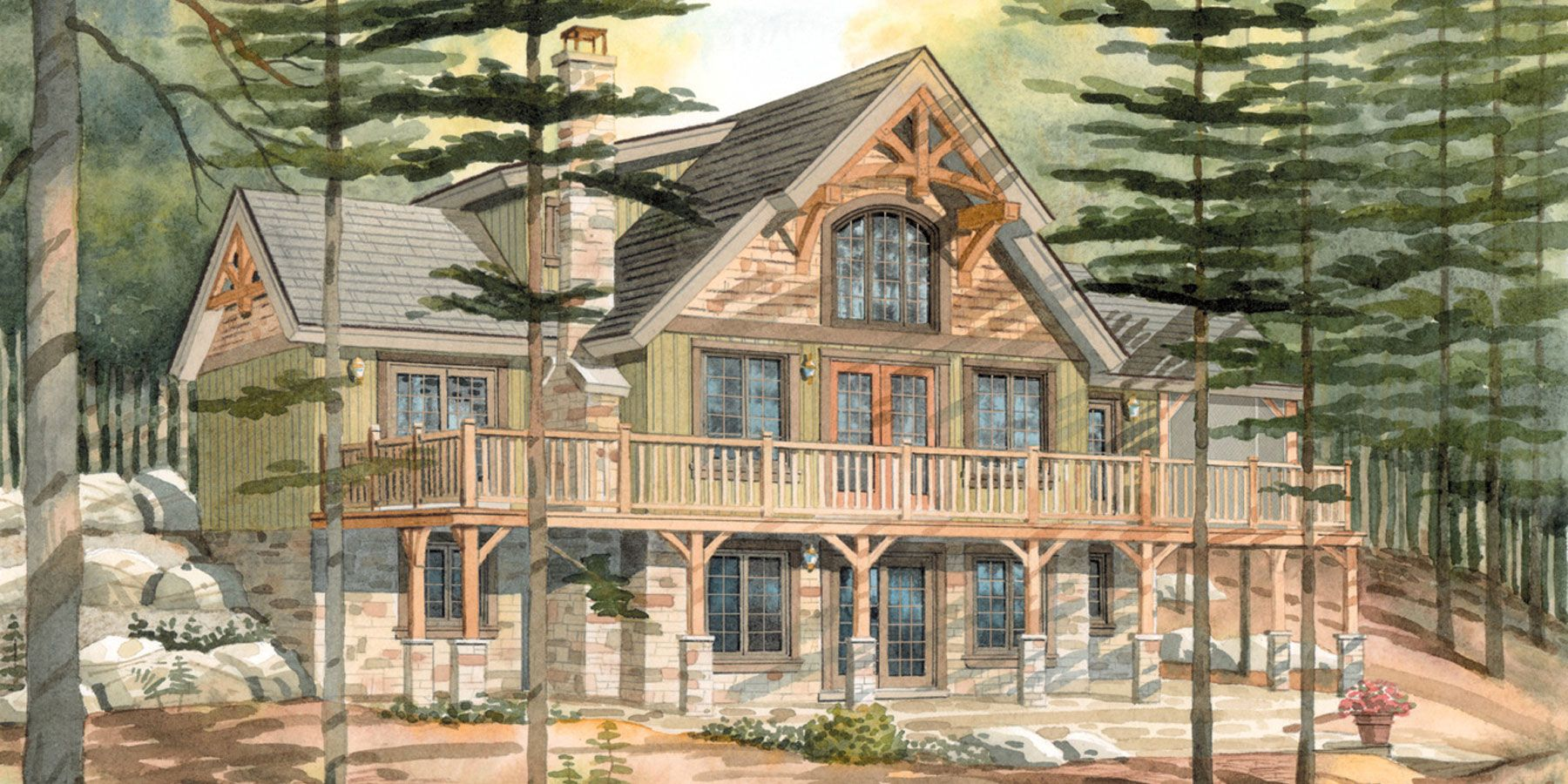 Small cottage house plans top 10 normerica custom timber for Small timber frame home plans