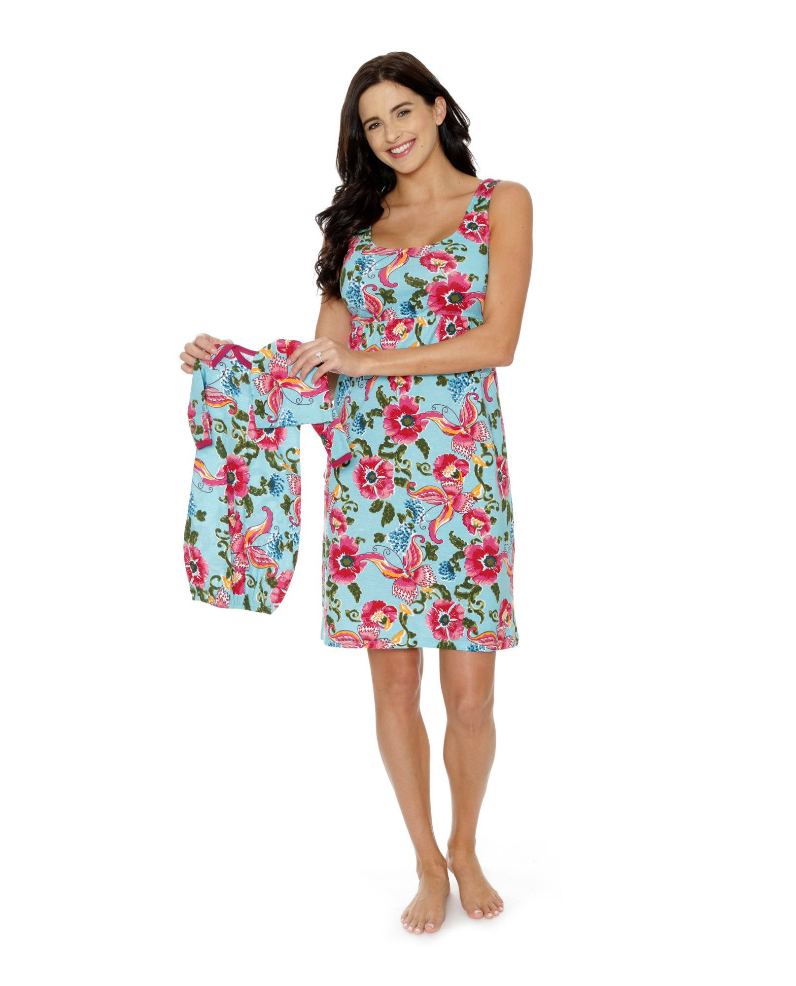 Isabelle Maternity/Nursing Nightgown & Matching Baby Receiving Gown ...
