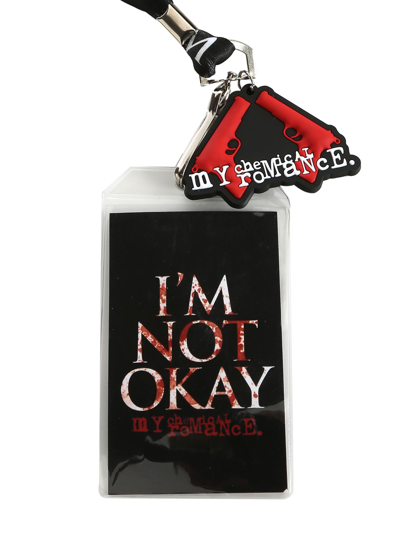 My Chemical Romance Lanyard Strap With An Im Not Okay Design Badly Drawn Tshirt Short Circuit Mens Buy Online At Grindstore