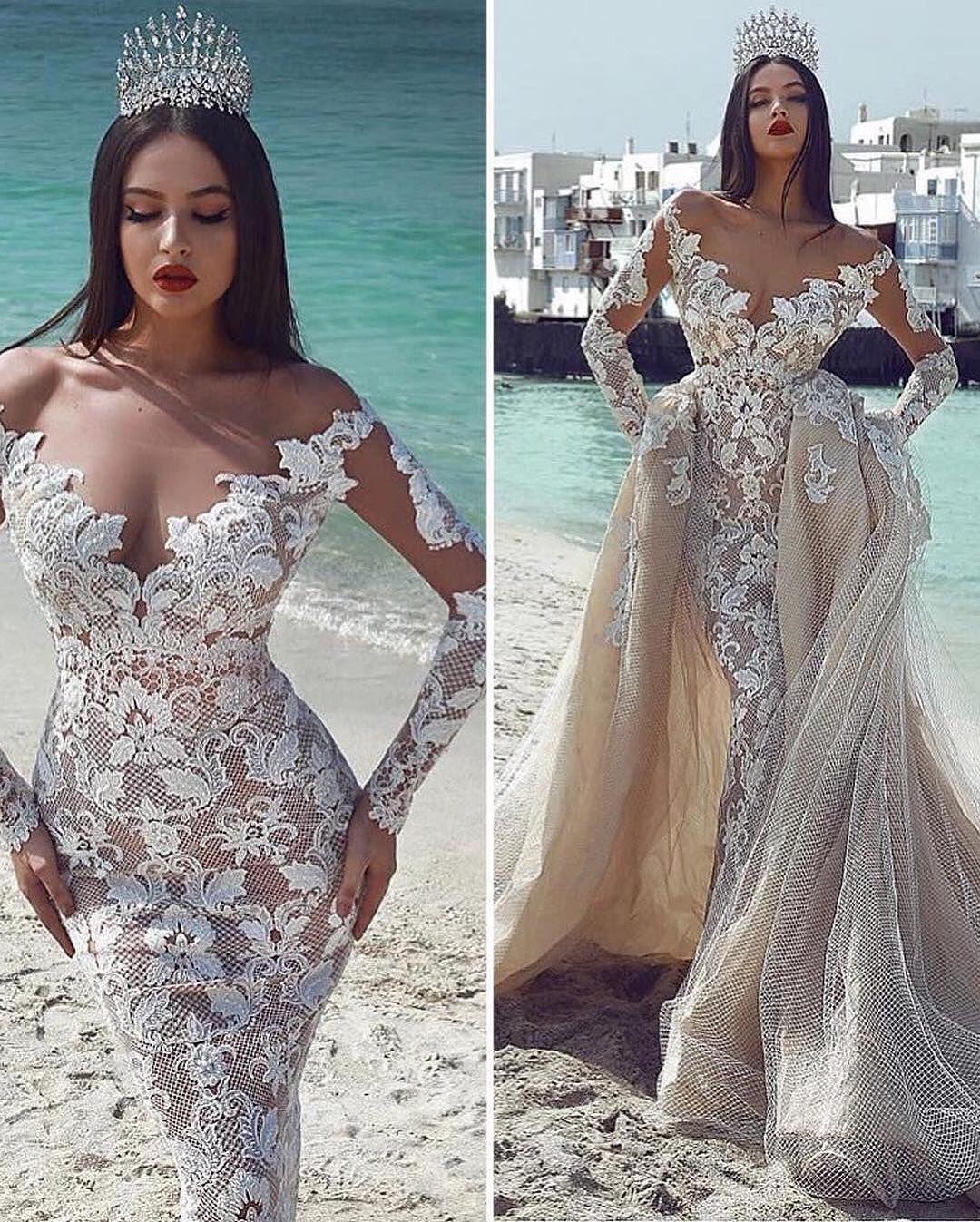 Charming VNeck LongSleeves Bridal Gowns 2019 ALine
