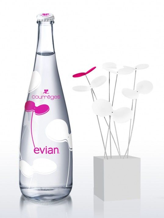 EVIAN WATER Courreges