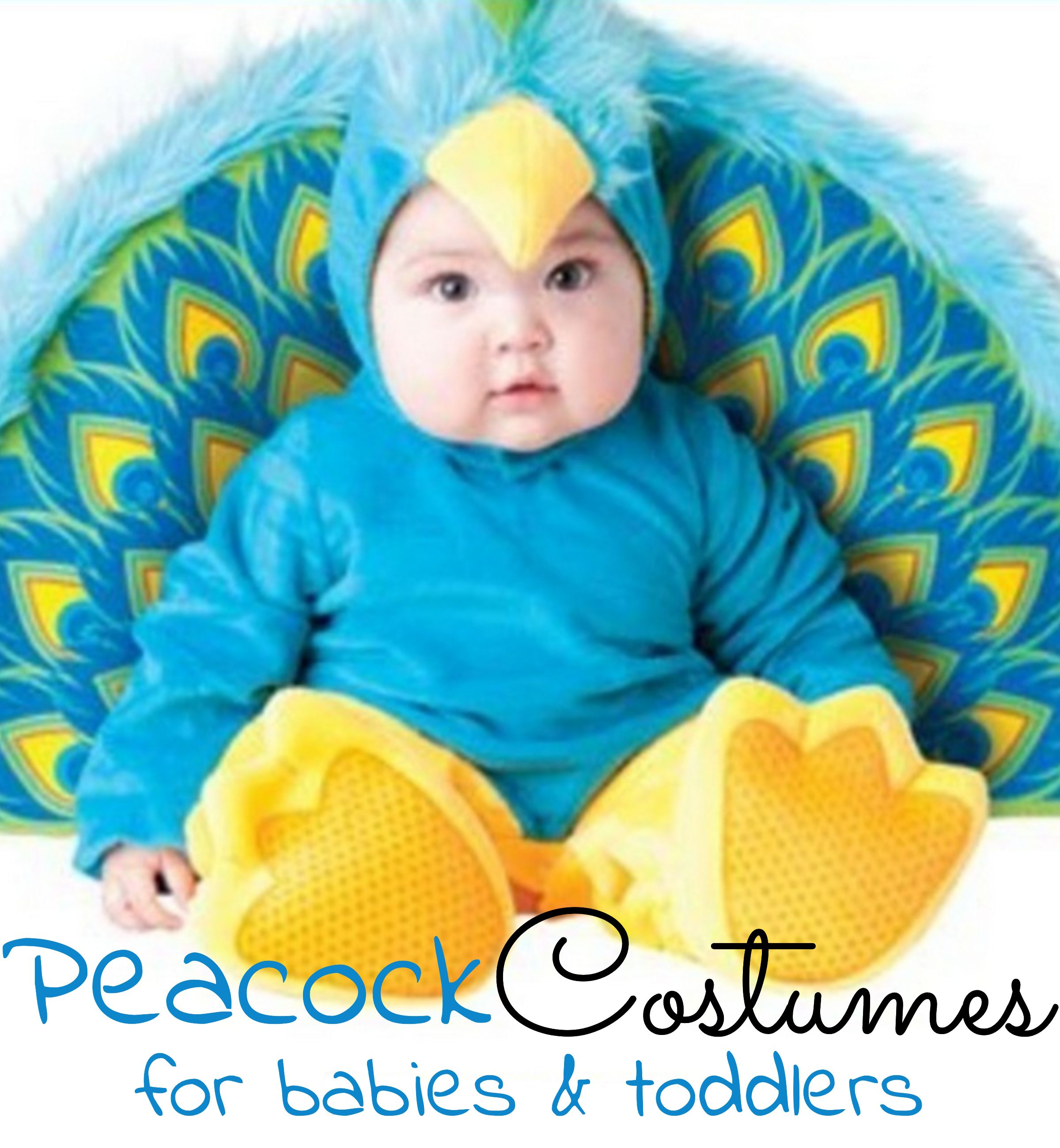 Super cute PEACOCK costumes for toddlers, babies, little girls and tweens - great Halloween costume ideas!