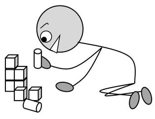 Verb: bauen / build - Verb, Illustration, Zeichnung, bauen ...