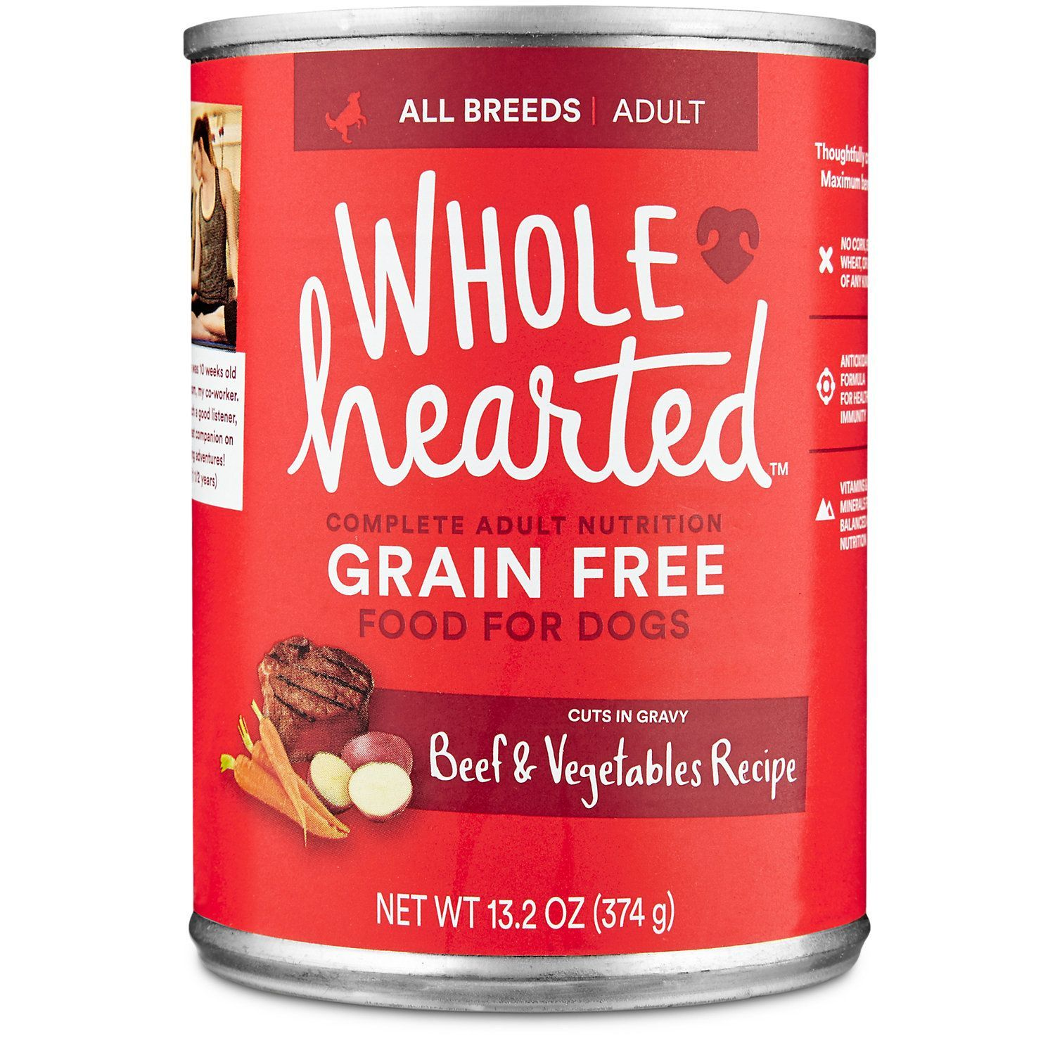 Wholehearted grain free adult beef and vegetable recipe