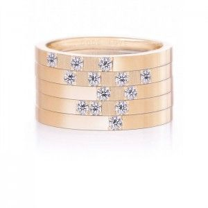 """Love"" Rose Gold Union Ring - Morse Code"