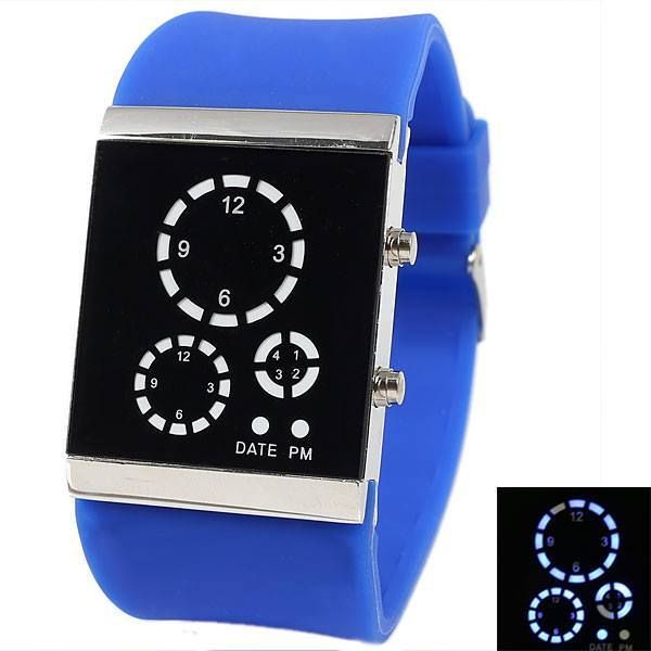 Waterproof Rectangle LED Watches Watches, Watch brands