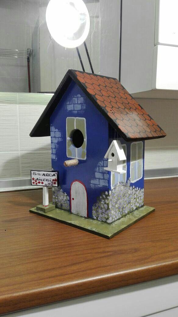 El Boyama Kus Evi Handpaint Birdhouse Kus
