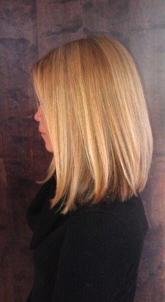 Long bob..wonder if this would look good on me? But with side swept ...